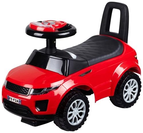 Машинка-каталка BESTLIKE со звуком, PVC колеса, красная (613W)