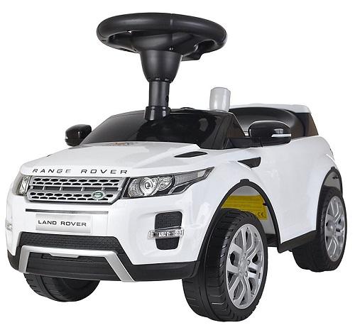 Машинка-каталка BESTLIKE Land Rover, до 23 кг, белая (348)