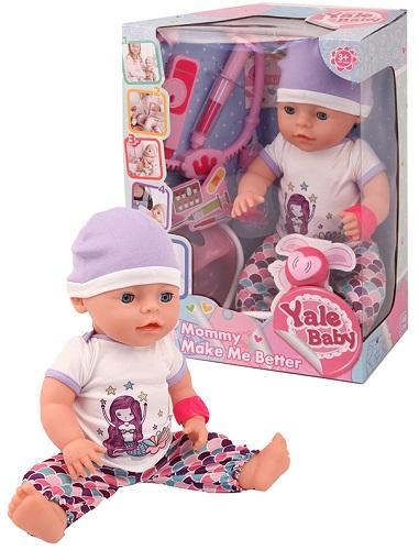 Пупс BESTLIKE Yale Baby, с набором доктора, 40 см, 5 функций (YL1965J)