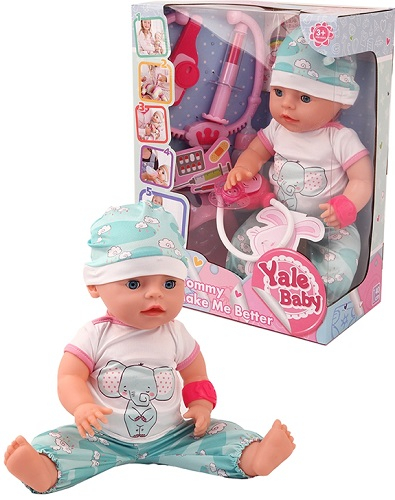 Пупс BESTLIKE Yale Baby, с набором доктора, 40 см, 5 функций (YL1965A)