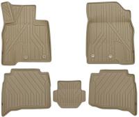 багажные дуги поперечины fresh для lexus nx 2015 г в по н в Коврики в салон KVEST 3D Lexus NX, 2014+, 5 шт, бежевые/бежевые (KVESTLEX00003Kb2)
