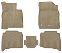 багажные дуги поперечины fresh для lexus nx 2015 г в по н в Коврики в салон KVEST 3D Lexus NX, 2014+, 5 шт, бежевые/серые (KVESTLEX00003Kb1)