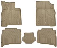 багажные дуги поперечины fresh для lexus nx 2015 г в по н в Коврики в салон KVEST 3D Lexus NX, 2014+, 5 шт, бежевые/черные (KVESTLEX00003Kb)