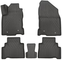 багажные дуги поперечины fresh для lexus nx 2015 г в по н в Коврики в салон KVEST Lexus NX, 2014+, 5 шт, серые/серые (KVESTLEX00003Kg1)