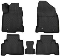 багажные дуги поперечины fresh для lexus nx 2015 г в по н в Коврики в салон KVEST Lexus NX, 2014+, 5 шт, черные/черные (KVESTLEX00003K)