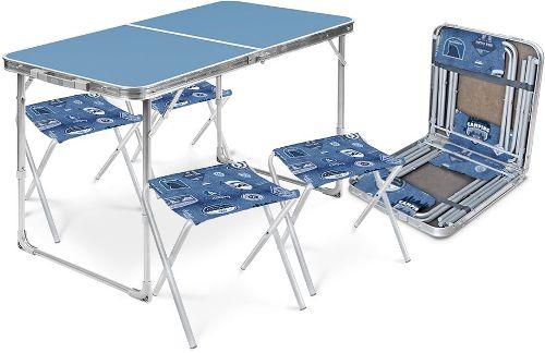 Набор складной мебели NIKA голубой (ССТ-К2/4)