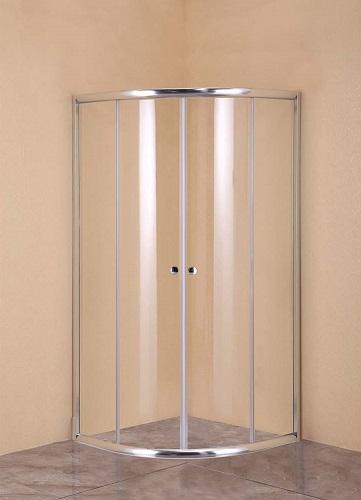 Душевой уголок AGGER без поддона, 90х90 см, прозрачное стекло (A01-090TCR/G)
