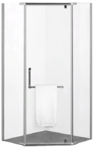 Душевой уголок AGGER без поддона, 89х89 см, прозрачное стекло (A03-090TCR/G)