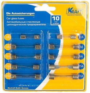KRAFT стеклянные цилиндрические, 10 шт (KT 870025) – купить автомобильный предохранитель kraft стеклянные цилиндрические, 10 шт (KT 870025), цена, отзывы. Продажа автомобильных предохранителей kraft (Крафт) в интернет-магазине ЭЛЬДОРАДО