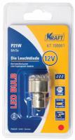 Лампа автомобильная Kraft P21W BA15s 12/24v 12 LEDs Red (KT 700061) лампа автомобильная светодиодная kraft p21w 12 24v 1 5w kt 700063 1 шт
