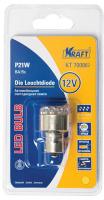 Лампа автомобильная Kraft P21W BA15s 12/24v 12 LEDs Yellow (KT 700062) лампа автомобильная светодиодная kraft p21w 12 24v 1 5w kt 700063 1 шт