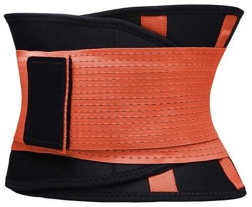 Фитнес-пояс для похудения CLEVERCARE оранжевый, XL (TX-LB033O)