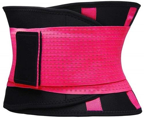Фитнес-пояс для похудения CLEVERCARE фуксия, XL (TX-LB033A)