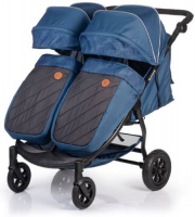 коляски для двойни и погодок Коляска для двойни и погодок ACARENTO Prevalenza Duo Blue Jeans (AS210)