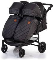 коляски для двойни и погодок Коляска для двойни и погодок ACARENTO Prevalenza Duo Dark Grey (AS210)