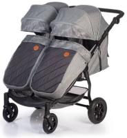 коляски для двойни и погодок Коляска для двойни и погодок ACARENTO Prevalenza Duo Grey (AS210)