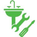 Стандартная установка смесителя для ванной комнаты