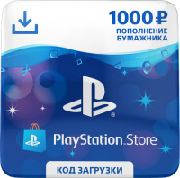 Playstation Store пополнение бумажника Sony Карта оплаты 1000 рублей фото