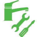 Стандартная установка кухонного смесителя