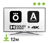 Цифровой пакет Okko & Amediateka 12 месяцев + 4K + DolbyAtmos