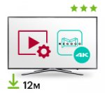 Цифровой пакет Smart TV + Megogo 12 месяцев + 4K