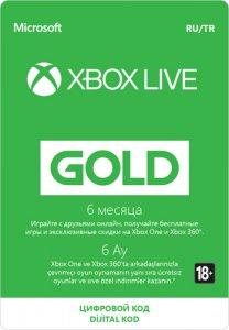Подписка Microsoft Xbox Live Gold на 6 месяцев