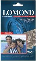 Полуглянцевая ярко-белая (semi glossy bright) микропористая фотобумага Lomond для струйной печати, A6, 260 г, 20 листов (1103302)