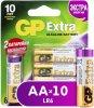 Батарейки GP Extra Alkaline AA (LR6), 10 шт. (15AX8/2-CR10)