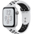 Silver Aluminum Case with Pure Platinum/Black Nike Sport Band