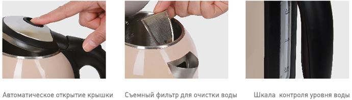 Чайник POLARIS PWK 1766CWr Beige